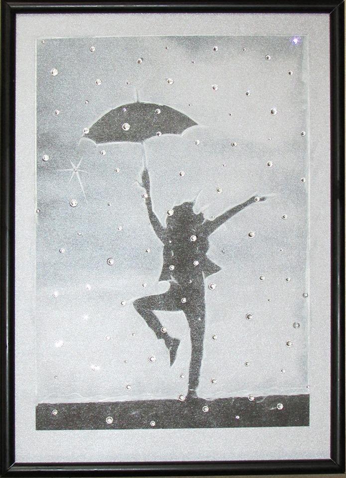 "Кристална картина \""Dancing in the Rain\"""